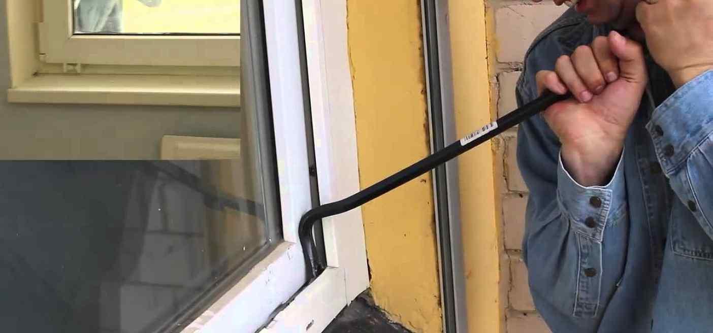 как вскрыть окно