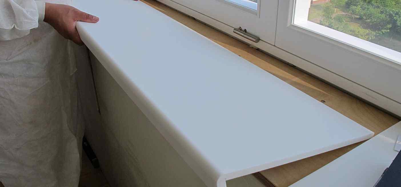 Замена подоконника окна