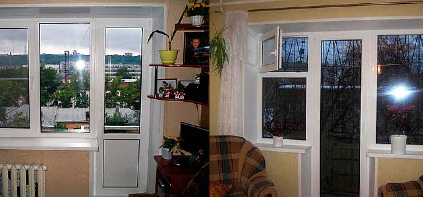 окно с форточкой