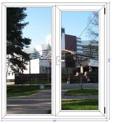 Двухстворчатое окно WHS 60 Подольск