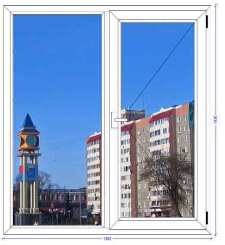 Двухстворчатое окно Вхс 60 Подольск