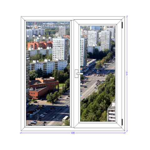 Двухстворчатое окно GRUNDER Зеленоград