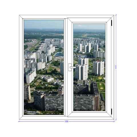 Двухстворчатое окно Грундер Зеленоград