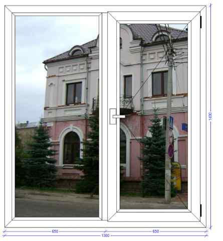 Двухстворчатое окно Века Софтлайн Сергиев Посад