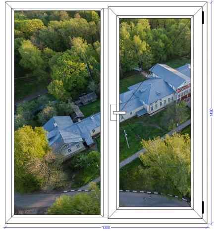 Двухстворчатое окно WHS 72 Фряново