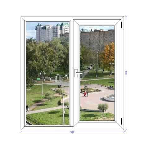 Двухстворчатое окно REHAU EURO Ивантеевка