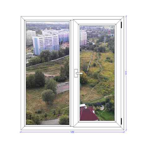 Двухстворчатое окно Рехау Евро Ивантеевка