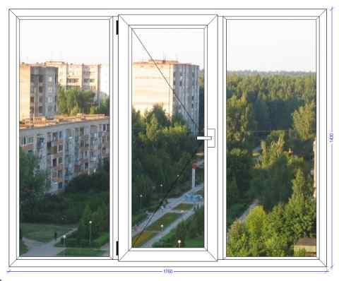 Трехстворчатое окно ВХС 60 Белоозерский