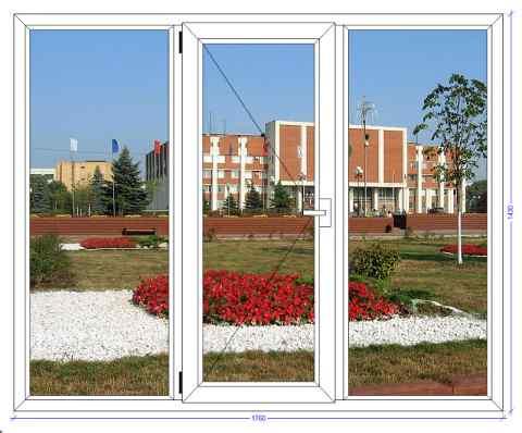 Трехстворчатое окно Века Евролайн Орехово-Зуево
