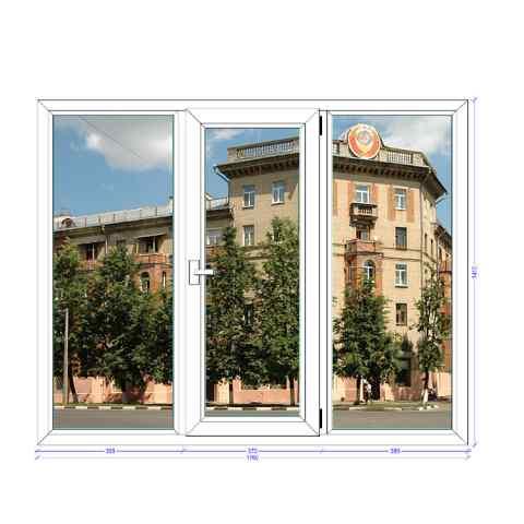 Трехстворчатое окно Rehau Euro Лыткарино