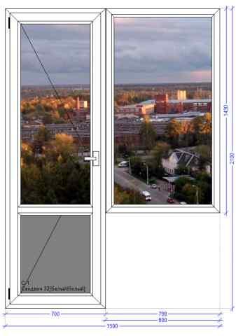 Балконный блок WHS 60 Лосино Петровский