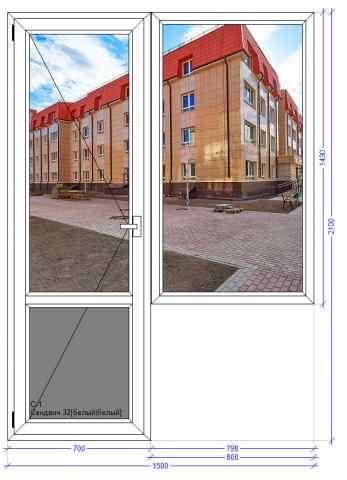 Балконный блок WHS 72 Загорянский