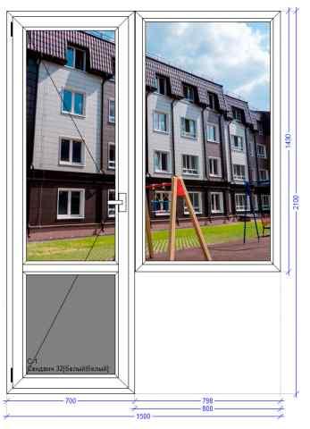 Балконный блок ВХС 72 Загорянский