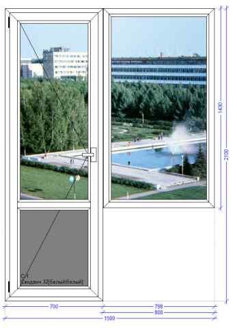 Балконный блок Века Евролайн Пущино