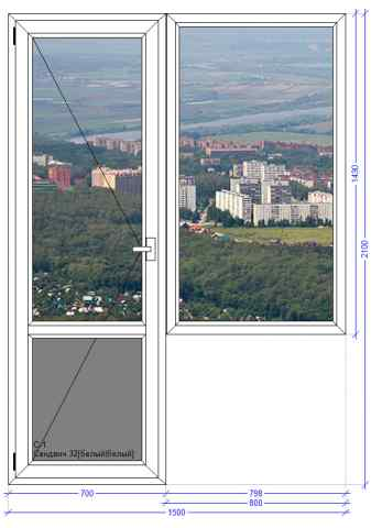 Балконный блок VEKA Euroline Пущино