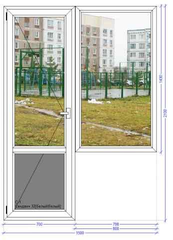 Балконный блок VEKA Softline Лотошино