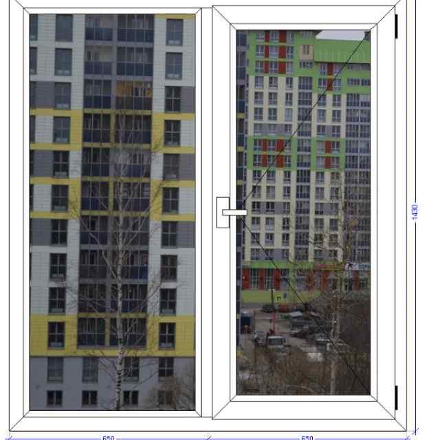 Двухстворчатое окно VEKA Softline Сергиев Посад