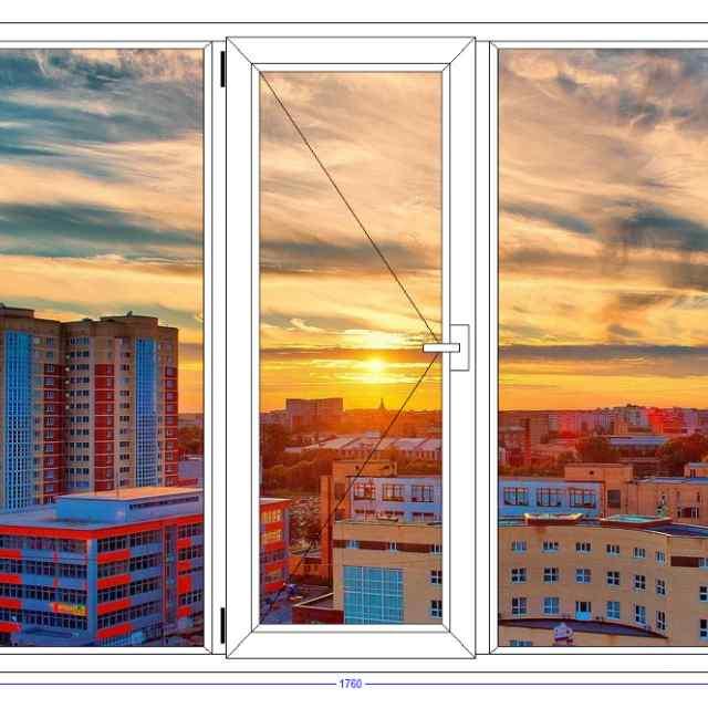 Трехстворчатое окно VEKA Euroline Орехово-Зуево
