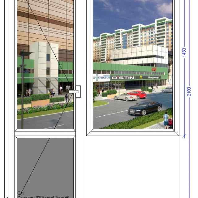 Балконный блок WHS Halo 60 Лосино Петровский