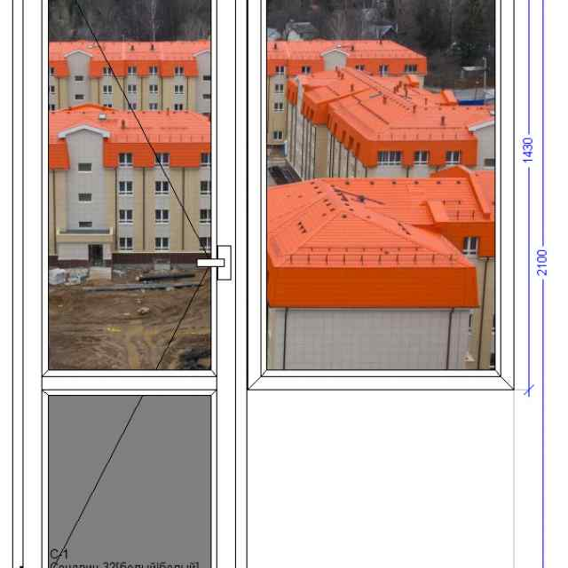 Балконный блок WHS Halo 72 Загорянский